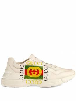 Gucci кроссовки 'Rhyton' с логотипом 500878DRW00