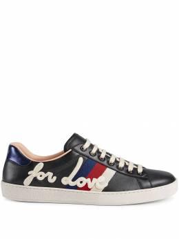 Gucci кроссовки 'Ace' с вышивкой 497276DOPE0