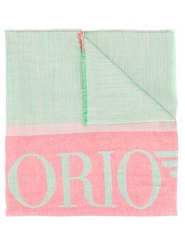 Emporio Armani трикотажный шарф с логотипом 6352669A315