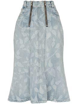 Gmbh юбка миди с принтом CRYUNARE19DENIM