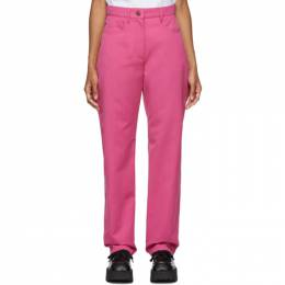 Kenzo Pink Straight Cropped Trousers F962PA1985AH