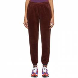 Opening Ceremony Red Velour Lounge Pants F19THI13156