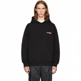 Opening Ceremony SSENSE Exclusive Black and Pink Logo Hoodie F19TGW21122