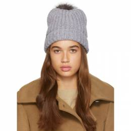 Mackage Grey Pom Pom Doris Beanie DORIS-R
