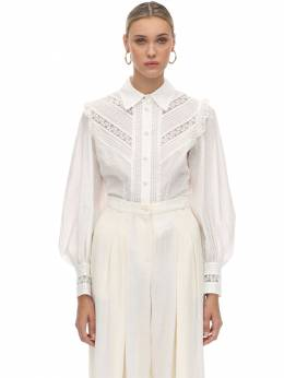 Broderie Anglaise Cotton Shirt Zimmermann 70IXM8004-SVZPUlk1