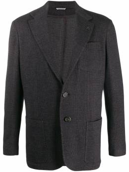 Canali пиджак с накладными карманами W0147WJ01444501