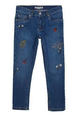 Синие джинсы с вышивкой Bonpoint 1210152803