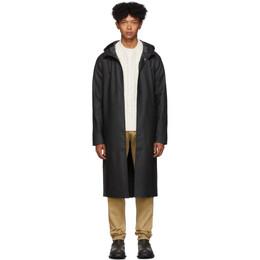 Stutterheim Black Long Stockholm Raincoat 1006