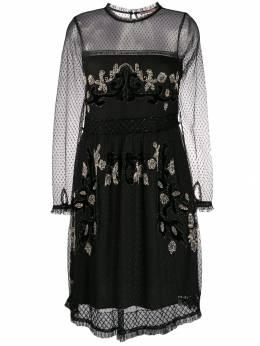 Twin-Set полупрозрачное платье с бусинами 192TT2041