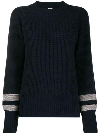 Eleventy свитер в рубчик с полосками 980MA0529MAG28003 - 1