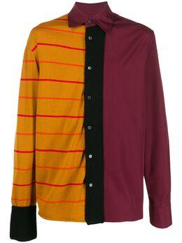 Marni рубашка с контрастными вставками CUMU0079L0S49305