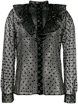 Alberta Ferretti рубашка в горох с эффектом металлик A02145135