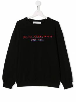 Philosophy Di Lorenzo Serafini Kids толстовка с декорированным логотипом PJFE08FE147UH007