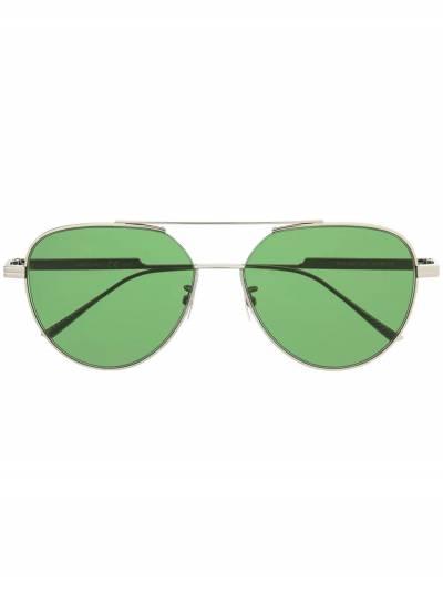 Bottega Veneta Eyewear солнцезащитные очки-авиаторы с двойным мостом BV1013SK590251V4450 - 1