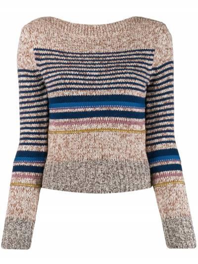 See By Chloe свитер в горизонтальную полоску CHS19WMP14570 - 1