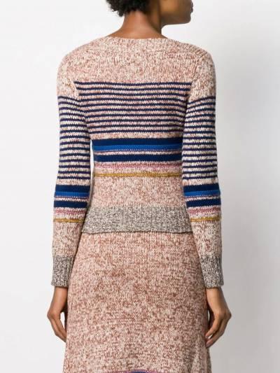 See By Chloe свитер в горизонтальную полоску CHS19WMP14570 - 4