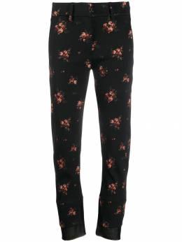 Ann Demeulemeester брюки с цветочным принтом 19021400P180