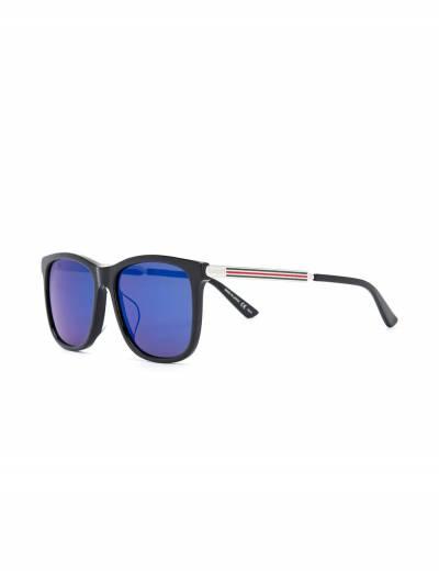 Gucci Eyewear солнцезащитные очки в квадратной оправе GG0078SK001 - 2