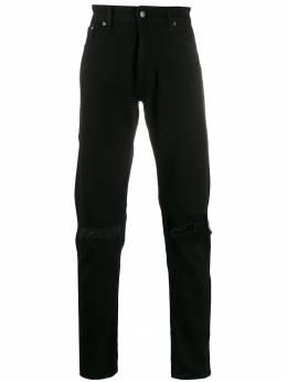 Represent джинсы прямого кроя с эффектом потертости M07017