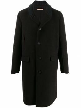 Massimo Alba пальто с трикотажным воротником TUNDRAT1011