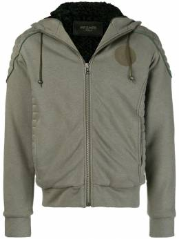 Mr & Mrs Italy patched quilted hoodie SS086E