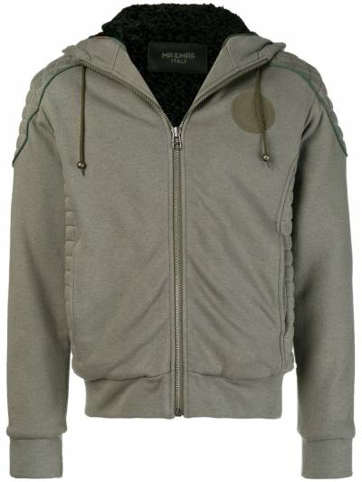 Mr & Mrs Italy patched quilted hoodie SS086E - 1