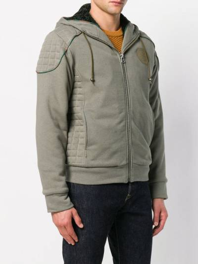 Mr & Mrs Italy patched quilted hoodie SS086E - 3