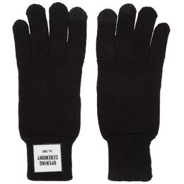 Opening Ceremony Black Knit Logo Gloves F198MN28053