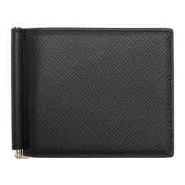Smythson Black Panama Money Clip Wallet 1022453