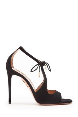 Черные босоножки на высоком каблуке Oscar Aquazzura 975154963