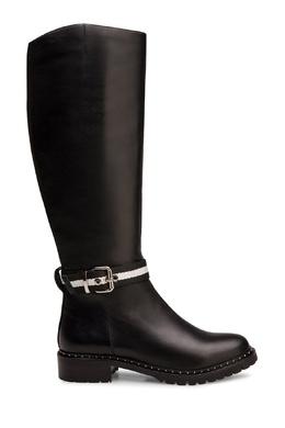 Черные сапоги с текстильным ремнем Portal 2659153950