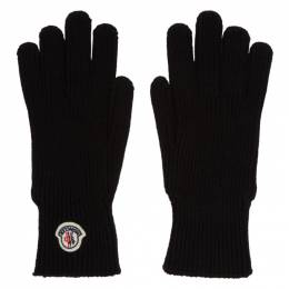 Moncler Black Wool Gloves E2091 00518 00 04957