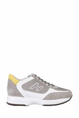 Серо-белые кроссовки Hogan 1791154799