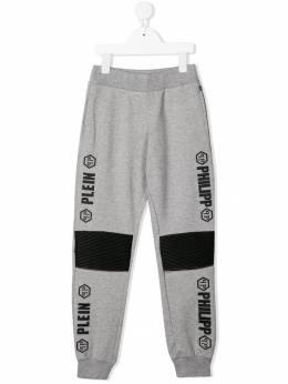 Philipp Plein Junior спортивные брюки с логотипом P19CBJT0185PJO002N