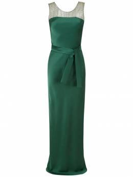 Gloria Coelho длинное платье со вставками I19VF007