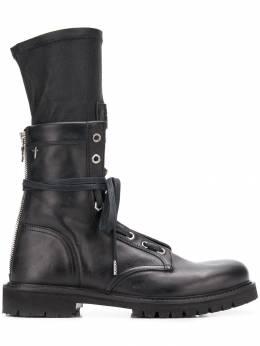 Rta ботинки на шнуровке со вставкой SF8LE1000BKOUT