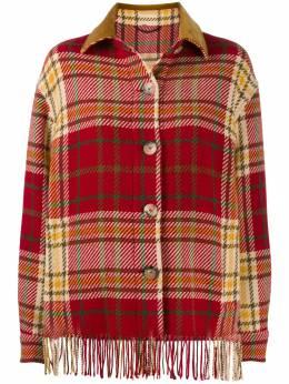 Etro клетчатая куртка-рубашка 17558740