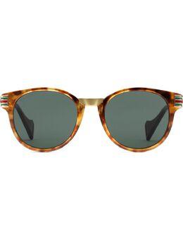 Gucci Eyewear солнцезащитные очки в круглой оправе 596065J0770