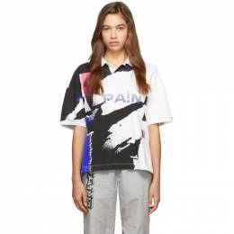 Alexander Wang Multicolor Printed Tennis Polo 1CC2191267