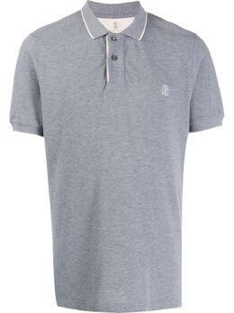 Brunello Cucinelli рубашка-поло с вышитым логотипом M0T639759GCR958