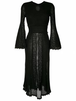 Andrea Bogosian кружевное платье миди 008223