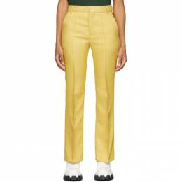 Plan C Yellow Straight Trousers PNCAA06L00TP022