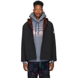 Aries Reversible Black Faux-Fur Parka Jacket FQAR70014