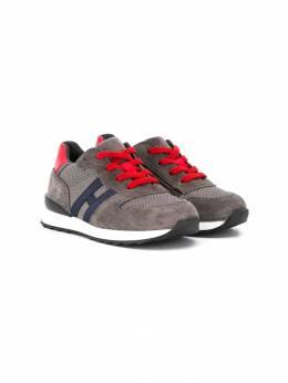 Hogan Kids кроссовки на шнуровке со вставками HXT4840CF90IBQ
