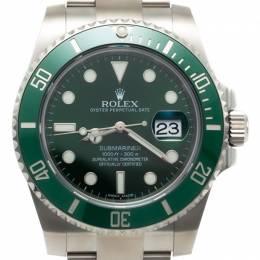 Rolex Submariner Date Steel & Ceramic Green Bezel Men'S Watch 40MM 229511