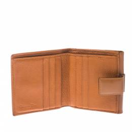 Dior Tan Leather Diorling Compact Wallet 229187