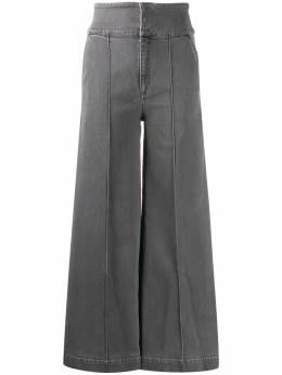 Stella McCartney джинсы широкого кроя с завышенной талией 585918SNH28