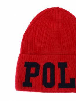 Intarsia Logo Acrylic Blend Knit Hat Ralph Lauren 70IXEU002-MDAz0