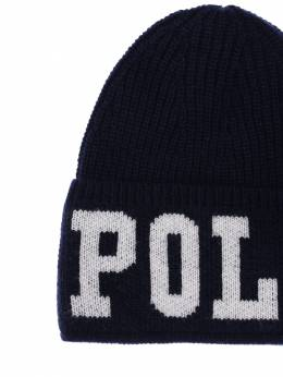 Intarsia Logo Acrylic Blend Knit Hat Ralph Lauren 70IXEU002-MDAy0