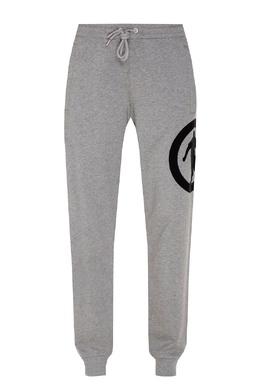 Серые брюки с карманами на молнии Bikkembergs 1487154920